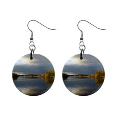 View   On The Lake Mini Button Earrings by Costasonlineshop