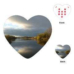 View   On The Lake Playing Cards (heart)  by Costasonlineshop