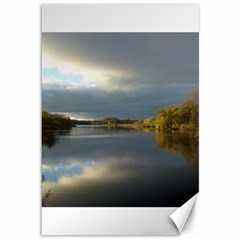 View   On The Lake Canvas 12  X 18   by Costasonlineshop