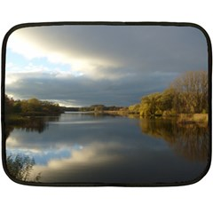 View   On The Lake Double Sided Fleece Blanket (mini)  by Costasonlineshop