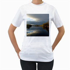 View   On The Lake Women s T Shirt (white)  by Costasonlineshop