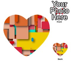 Rounded Rectangles Multi Purpose Cards (heart)