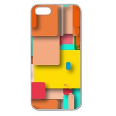 Rounded Rectangles Apple Seamless Iphone 5 Case (clear) by hennigdesign