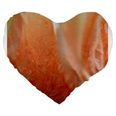 Floating Peach Large 19  Premium Heart Shape Cushions by timelessartoncanvas