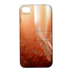 Floating Peach Apple Iphone 4/4s Hardshell Case With Stand by timelessartoncanvas