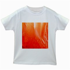 Floating Orange Kids White T Shirts by timelessartoncanvas