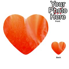 Floating Orange Multi Purpose Cards (heart)  by timelessartoncanvas