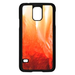 Floating Orange Samsung Galaxy S5 Case (black) by timelessartoncanvas