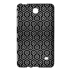 Hexagon1 Black Marble & Silver Brushed Metal Samsung Galaxy Tab 4 (8 ) Hardshell Case