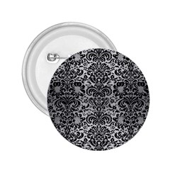 Damask2 Black Marble & Silver Brushed Metal (r) 2 25  Button by trendistuff