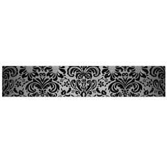 Damask2 Black Marble & Silver Brushed Metal (r) Flano Scarf (large) by trendistuff