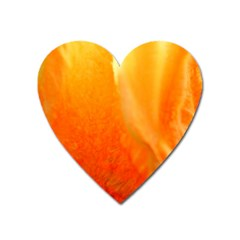 Floating Orange And Yellow Heart Magnet by timelessartoncanvas