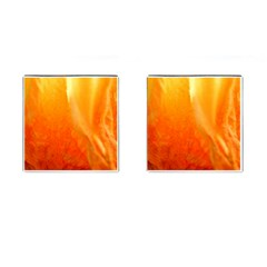 Floating Orange And Yellow Cufflinks (square) by timelessartoncanvas