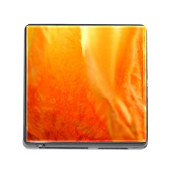 Floating Orange And Yellow Memory Card Reader (square) by timelessartoncanvas