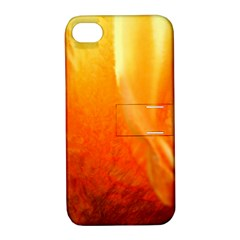 Floating Orange And Yellow Apple Iphone 4/4s Hardshell Case With Stand