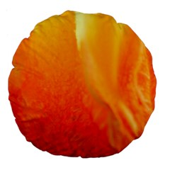 Floating Orange And Yellow Large 18  Premium Flano Round Cushions by timelessartoncanvas