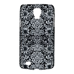 Damask2 Black Marble & Silver Brushed Metal Samsung Galaxy S4 Active (i9295) Hardshell Case by trendistuff