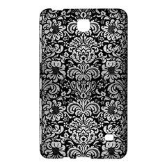 Damask2 Black Marble & Silver Brushed Metal Samsung Galaxy Tab 4 (8 ) Hardshell Case  by trendistuff