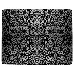 Damask2 Black Marble & Silver Brushed Metal Jigsaw Puzzle Photo Stand (rectangular) by trendistuff