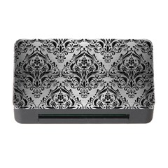 Damask1 Black Marble & Silver Brushed Metal (r) Memory Card Reader With Cf by trendistuff