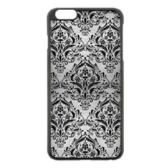 Damask1 Black Marble & Silver Brushed Metal (r) Apple Iphone 6 Plus/6s Plus Black Enamel Case by trendistuff