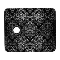 Damask1 Black Marble & Silver Brushed Metal Samsung Galaxy S  Iii Flip 360 Case by trendistuff