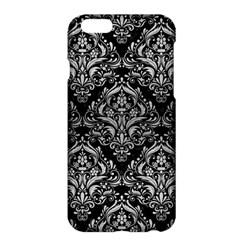 Damask1 Black Marble & Silver Brushed Metal Apple Iphone 6 Plus/6s Plus Hardshell Case by trendistuff