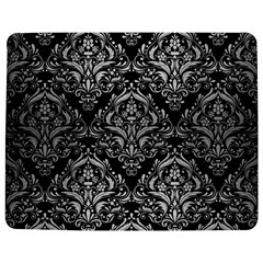 Damask1 Black Marble & Silver Brushed Metal Jigsaw Puzzle Photo Stand (rectangular) by trendistuff
