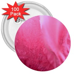 Floating Pink 3  Buttons (100 Pack)  by timelessartoncanvas