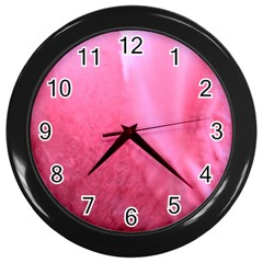 Floating Pink Wall Clocks (black) by timelessartoncanvas