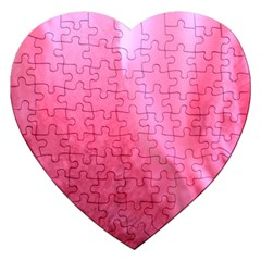 Floating Pink Jigsaw Puzzle (heart) by timelessartoncanvas