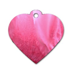 Floating Pink Dog Tag Heart (one Side) by timelessartoncanvas