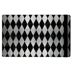 Diamond1 Black Marble & Silver Brushed Metal Apple Ipad 3/4 Flip Case by trendistuff