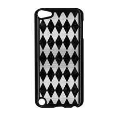 Diamond1 Black Marble & Silver Brushed Metal Apple Ipod Touch 5 Case (black) by trendistuff