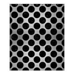 Circles2 Black Marble & Silver Brushed Metal (r) Shower Curtain 60  X 72  (medium) by trendistuff