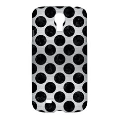 Circles2 Black Marble & Silver Brushed Metal (r) Samsung Galaxy S4 I9500/i9505 Hardshell Case by trendistuff
