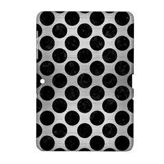 Circles2 Black Marble & Silver Brushed Metal (r) Samsung Galaxy Tab 2 (10 1 ) P5100 Hardshell Case  by trendistuff