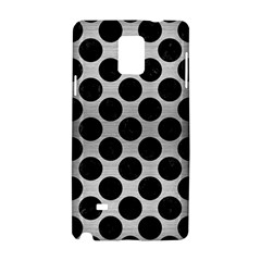 Circles2 Black Marble & Silver Brushed Metal (r) Samsung Galaxy Note 4 Hardshell Case by trendistuff