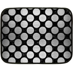 Circles2 Black Marble & Silver Brushed Metal Double Sided Fleece Blanket (mini) by trendistuff