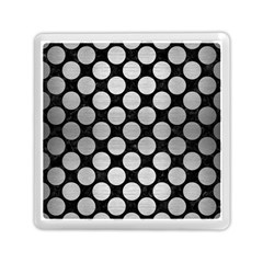 Circles2 Black Marble & Silver Brushed Metal Memory Card Reader (square) by trendistuff
