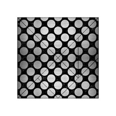Circles2 Black Marble & Silver Brushed Metal Acrylic Tangram Puzzle (4  X 4 ) by trendistuff