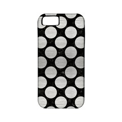 Circles2 Black Marble & Silver Brushed Metal Apple Iphone 5 Classic Hardshell Case (pc+silicone) by trendistuff