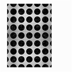 Circles1 Black Marble & Silver Brushed Metal (r) Large Garden Flag (two Sides)
