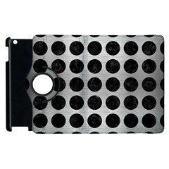 Circles1 Black Marble & Silver Brushed Metal (r) Apple Ipad 3/4 Flip 360 Case by trendistuff