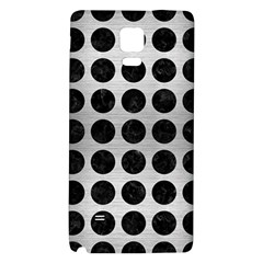 Circles1 Black Marble & Silver Brushed Metal (r) Samsung Note 4 Hardshell Back Case by trendistuff