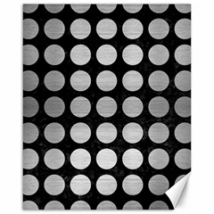 Circles1 Black Marble & Silver Brushed Metal Canvas 16  X 20  by trendistuff