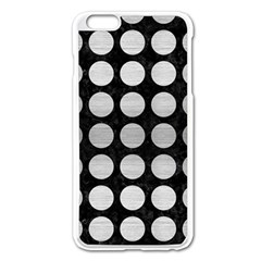 Circles1 Black Marble & Silver Brushed Metal Apple Iphone 6 Plus/6s Plus Enamel White Case by trendistuff