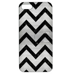 Chevron9 Black Marble & Silver Brushed Metal (r) Apple Iphone 5 Hardshell Case With Stand by trendistuff