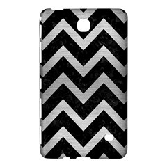 Chevron9 Black Marble & Silver Brushed Metal Samsung Galaxy Tab 4 (7 ) Hardshell Case  by trendistuff
