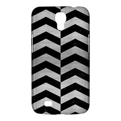 Chevron2 Black Marble & Silver Brushed Metal Samsung Galaxy Mega 6 3  I9200 Hardshell Case by trendistuff